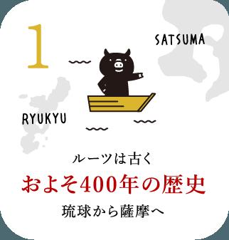 1 ルーツは古く、およそ400年の歴史 琉球から薩摩へ
